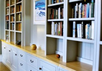 fitted bookshelves lothian